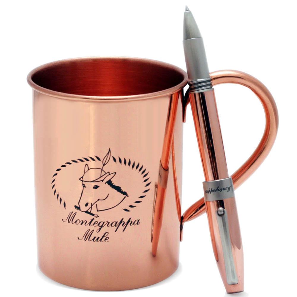 Шариковая медная ручка Montegrappa Mule с фирменной кружкой