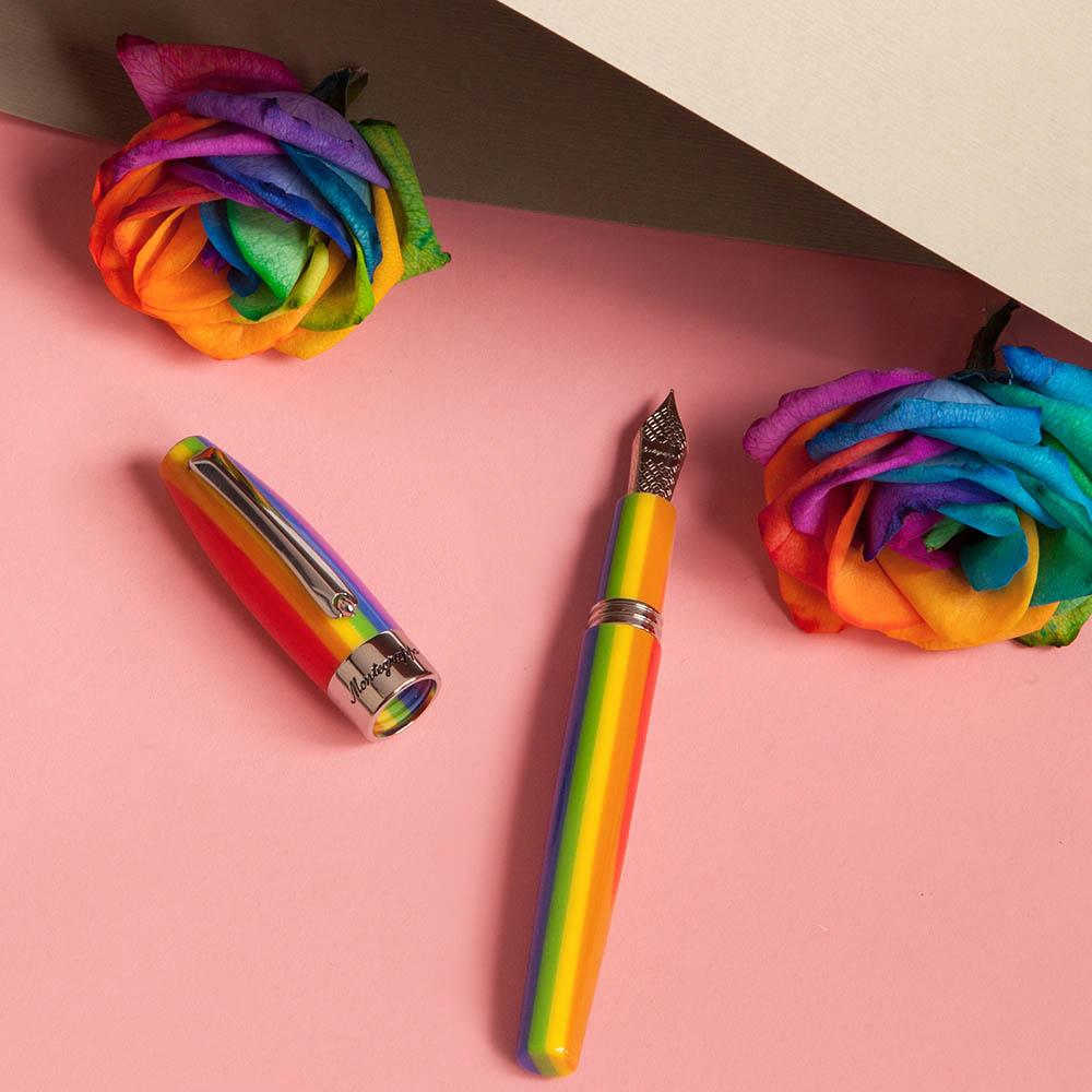 Радужная ручка-роллер Montegrappa Fortuna Rainbow с шарфом