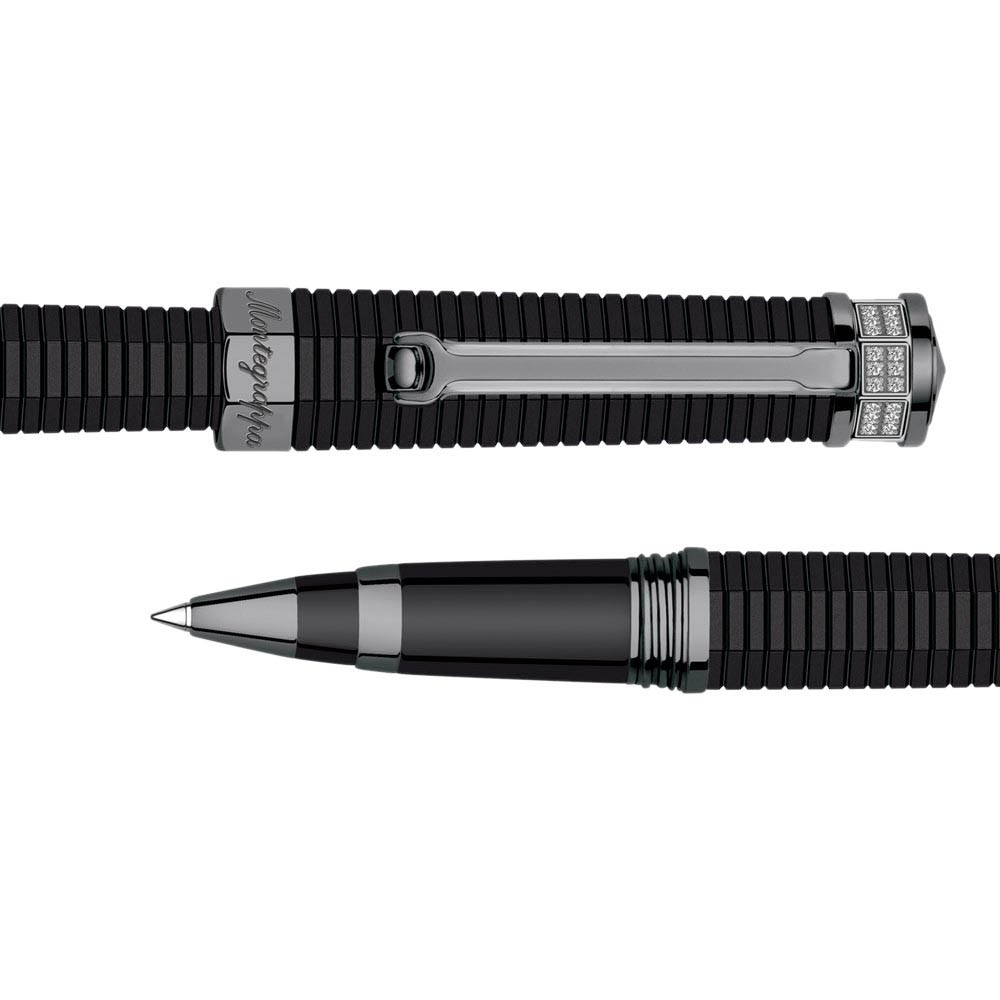 Ручка-роллер Montegrappa NeroUno Pure Brilliance с рутениевым покрытием