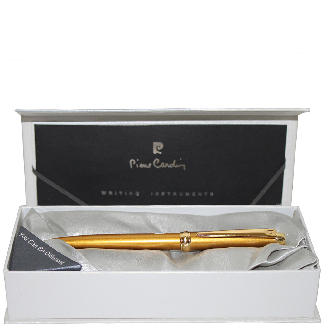 Ручка шариковая Traveller Pierre Cardin золотого цвета
