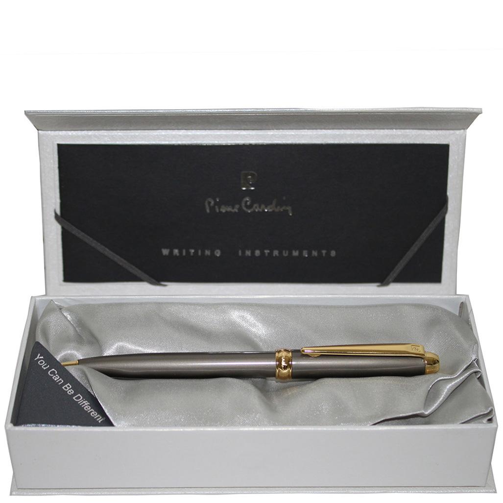 Ручка шариковая Traveller Pierre Cardin темно-серого цвета