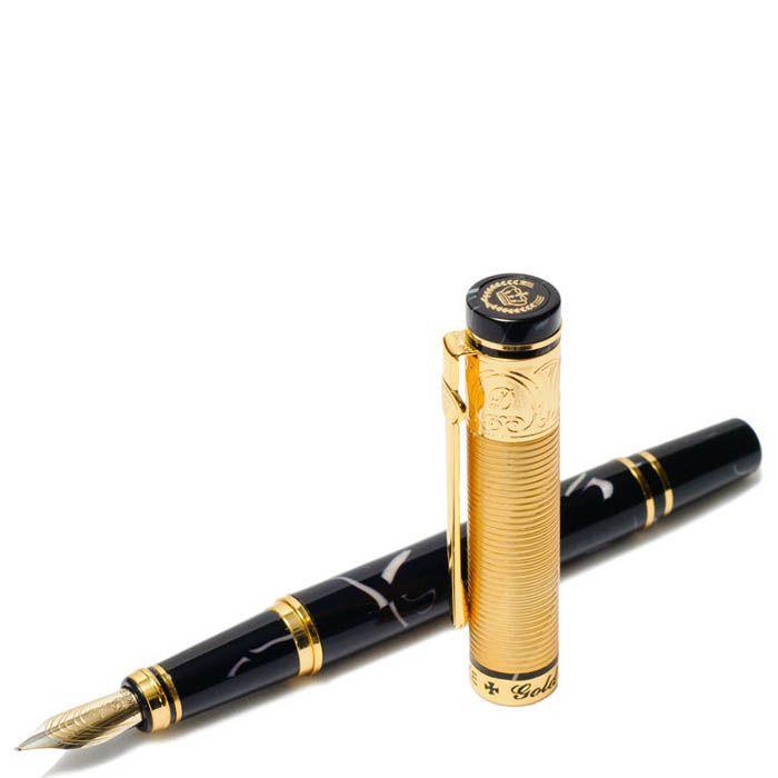 Ручка перьевая Duke Золотая медаль с отделкой под мрамор