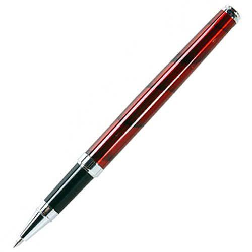 Ручка-роллер William Lloyd бордовая в деревянном лаковом футляре