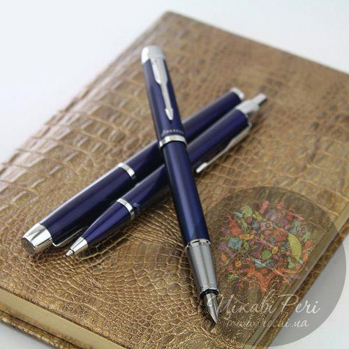 Глянцевая перьевая ручка Parker IM Blue CT, фото