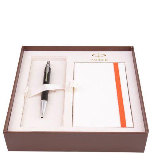 Набор Parker Premium Matt Black с шариковой ручкой и блокнотом, фото