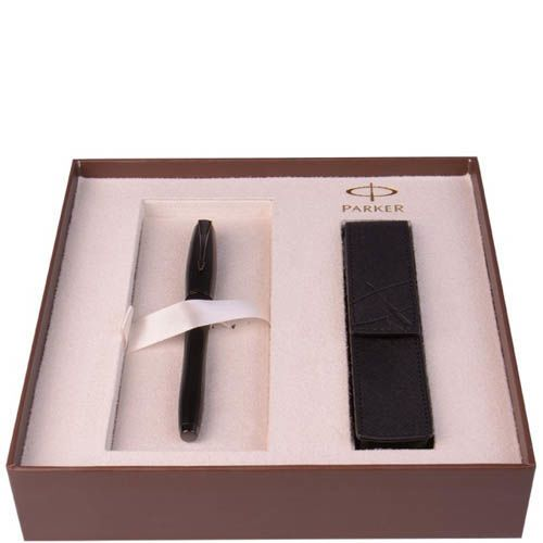 Набор Parker перьевая ручка с чернилами Premium  Matt Black, фото