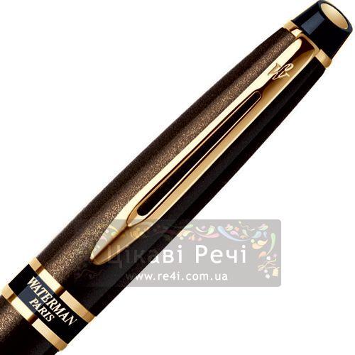 Шариковая ручка Waterman Expert Smart Brown GT, фото