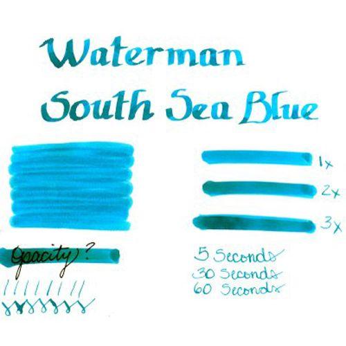 Чернила Waterman бирюзовый, фото