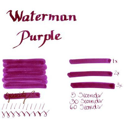 Картриджи Waterman пурпурные в наборе из 6 упаковок, фото