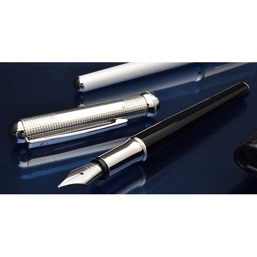 Серебряная перьевая ручка Waldmann Xetra Black, фото