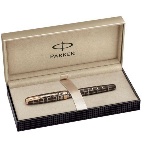 Ручка-роллер Parker Sonnet 08 Masculine Brown Laquer PGT, фото
