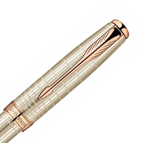 Серебряная перьевая ручка Parker Sonnet 08 Sterling Silver PGT, фото