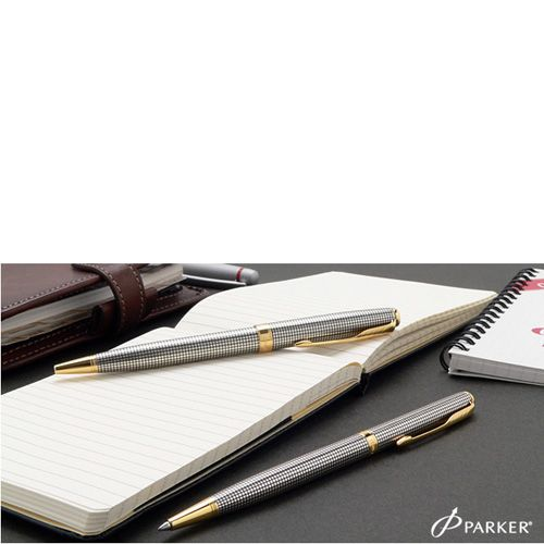 Серебряная шариковая ручка Parker Sonnet 08 Slim SS Cisele, фото