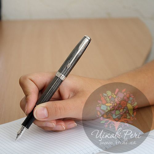 Перьевая ручка Parker Sonnet 08 Chiselled Carbon PT, фото