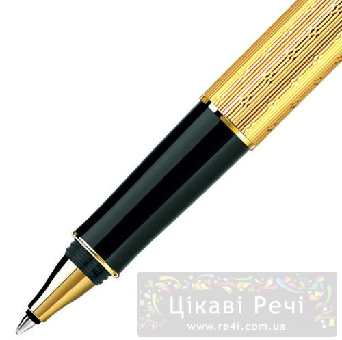 Ручка-роллер Parker Sonnet 08 Chiselled Gold GT, фото