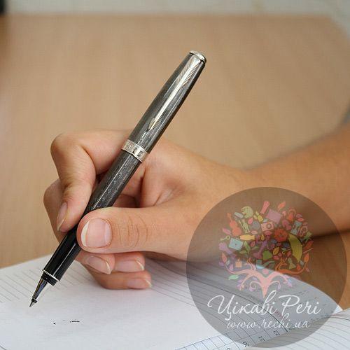 Ручка-роллер Parker Sonnet 08 Chiselled Carbon PT, фото