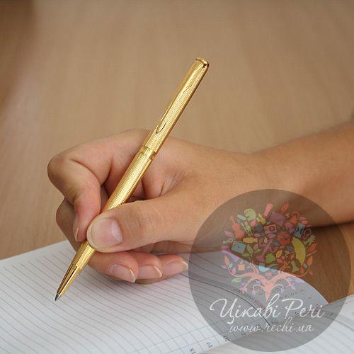 Шариковая ручка Slim Parker Sonnet 08 Chiselled Gold GT, фото