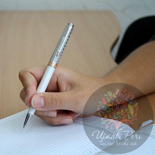 Шариковая ручка Parker Sonnet 08 Metal & Pearl CT, фото