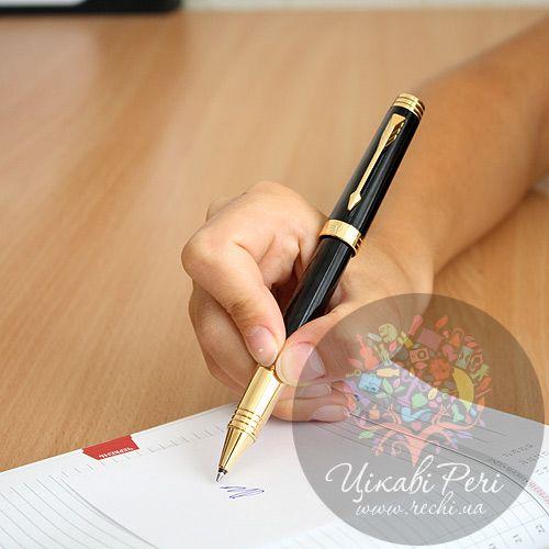 Ручка-роллер Parker Premier Black Laquer GT, фото