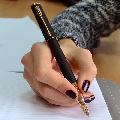 Ручка 5го поколения Parker Ingenuity Slim Black Rubber PGT, фото
