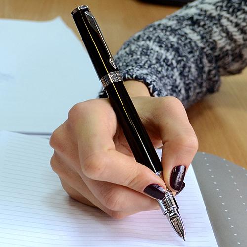 Ручка 5го поколения Parker Ingenuity Black Lacquer CT, фото