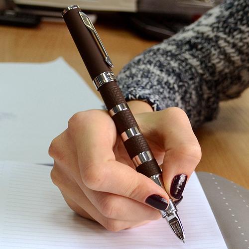 Ручка 5го поколения Parker Ingenuity Brown Rubber & Metal CT, фото