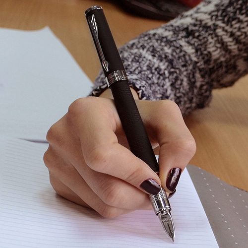 Ручка 5го поколения Parker Ingenuity Black Rubber CT, фото