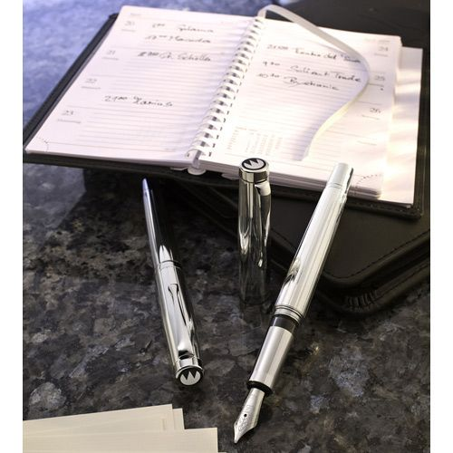 Серебряная перьевая ручка Waldmann Manager Silver, фото