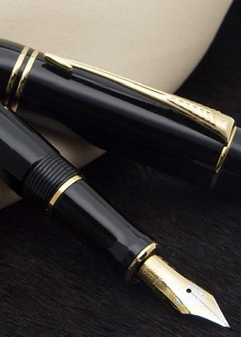 Перьевая ручка Parker Duofold Black New, фото