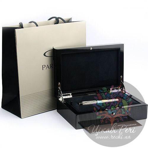 Серебряная перьевая ручка Parker Duofold Silver, фото