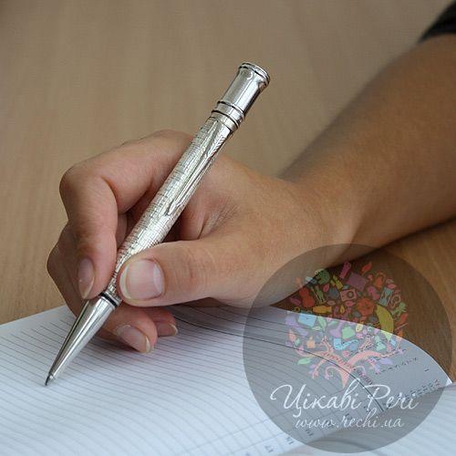 Серебряная шариковая ручка Parker Duofold Silver, фото