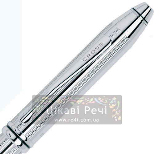 Шариковая ручка Cross Townsend Platinum Plated, фото