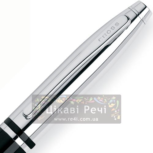 Шариковая ручка Cross Calais Black Chrome, фото