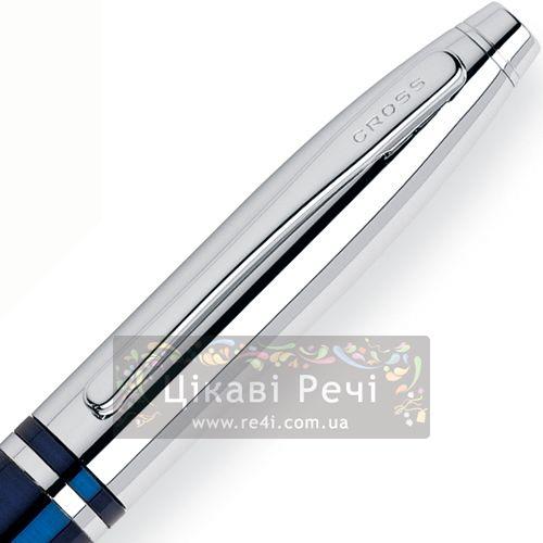 Шариковая ручка Cross Calais Blue Chrome, фото