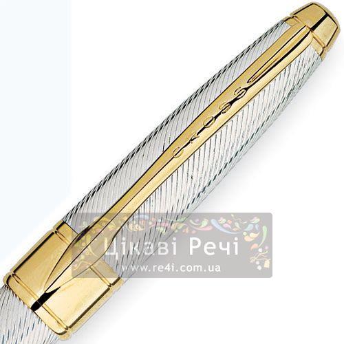 Серебряная шариковая ручка Cross Apogee Executive Sterling Silver GT, фото