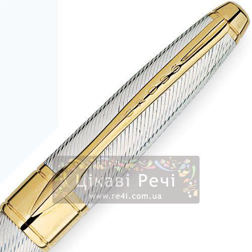 Серебряная перьевая ручка Cross Apogee Executive Sterling Silver GT, фото