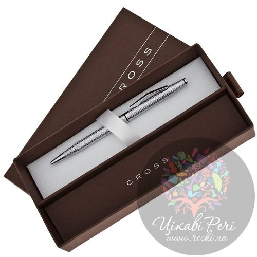 Шариковая ручка Cross Spire Icy Chrome, фото
