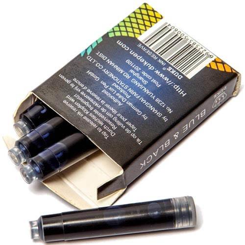 Картриджи Duke синего цвета для перьевых ручек, фото
