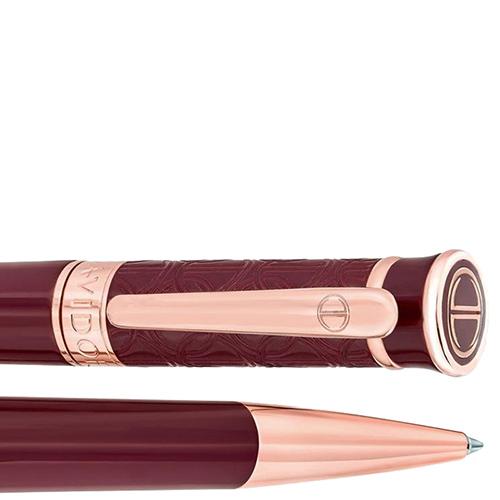 Шариковая ручка Davidoff Zino бордового цвета, фото