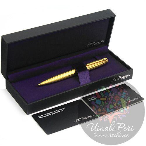 Шариковая ручка S.T.Dupont Olympio medium Fidelio Gold, фото