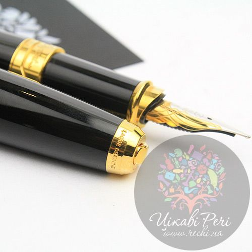 Перьевая ручка S.T. Dupont Olympio L Black Ch.Lacquer, фото