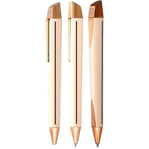 Гладкая бежевая ручка Edelberg Sloop с позолотой, фото