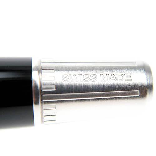 Роллеровая глянцевая ручка Edelberg Tachys с черной линией, фото
