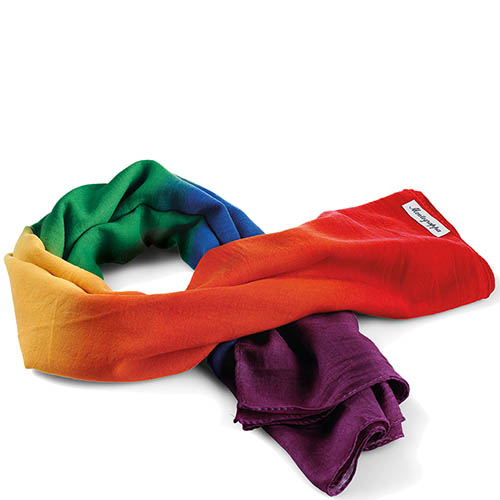 Радужная ручка-роллер Montegrappa Fortuna Rainbow с шарфом, фото