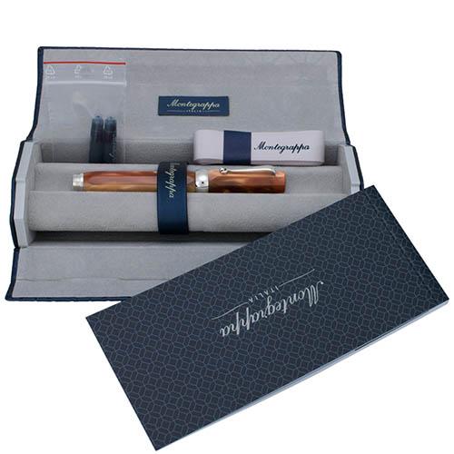 Перьевая ручка Montegrappa Micra Caramel с мраморным узором, фото
