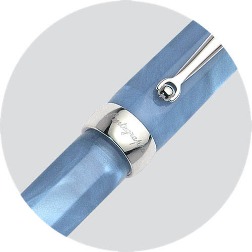 Перьевая перламутровая ручка Montegrappa Micra Clear Blue, фото