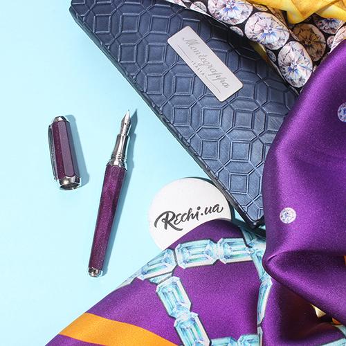 Перьевая фиолетовая ручка Montegrappa Piccola Purple с глиттером, фото