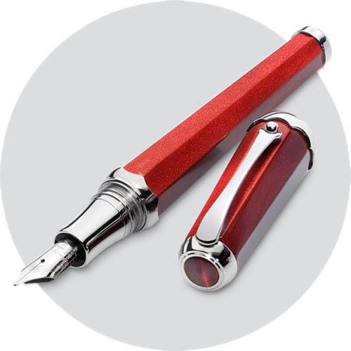 Перьевая красная ручка Montegrappa Piccola Red с глиттером, фото