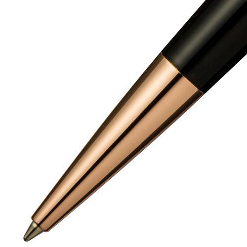 Шариковая ручка Pierre Cardin черная с позолоченными деталями, фото