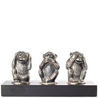 Посеребренная фигурка Christofle Три обезьяны, фото